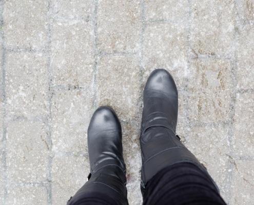 black ice ankle injury