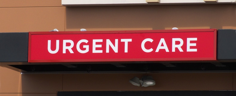 Outdoor urgent care sign.