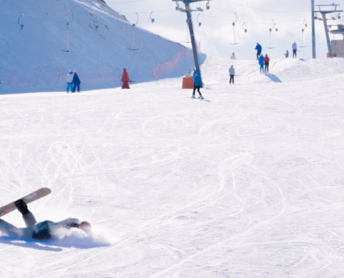 clavicle fracture from ski or snowboard accident